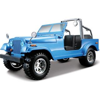 Bburago Jeep Wrangler 1:24 modrá