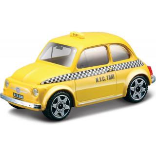 Bburago Fiat 500 Taxi 1:43 sárga