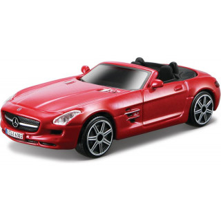 Bburago Mercedes-Benz SLS AMG Roadster 1:43 piros metál