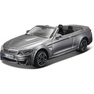 Bburago BMW M4 Cabrio 1:43 szürke metál