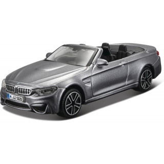 Bburago BMW M4 Cabrio 1:43 šedá metalíza