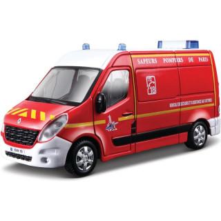 Bburago Renault Master 1:50 červená - hasiči