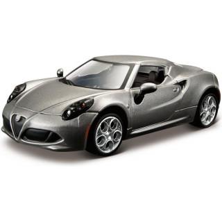 Bburago Alfa Romeo 4C 1:32 šedá metalíza