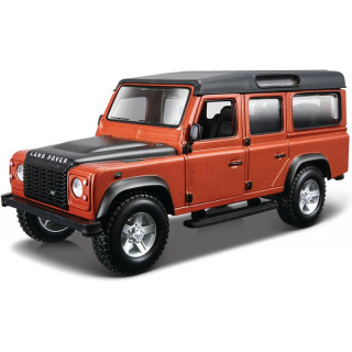 Bburago Kit Land Rover Defender 110 1:32 oranžová metalíza