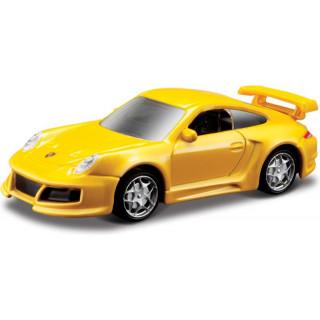 Bburago Porsche 911 GT2 1:64 žlutá