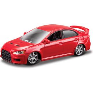 Bburago Mitsubishi Lancer Evolution 1:64 červená