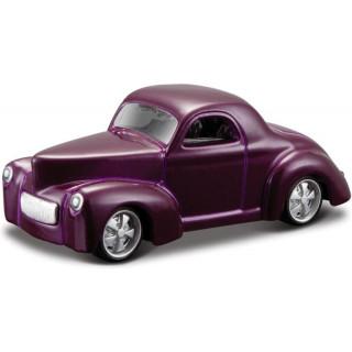 Bburago Willys Coupe 1941 1:64 fialová metalíza