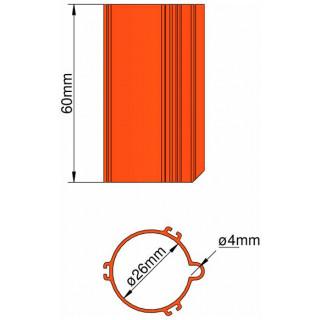 Klima Základna 26mm 3-stabilizátory oranžová