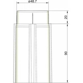 Klima Základna 50mm 3-stabilizátory bílá