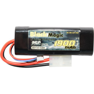 Black Magic LiPol Car 7.4V 1900mAh 25C Tamiya