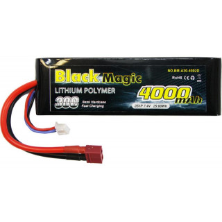 Black Magic LiPol Car 7.4V 4000mAh 30C Deans