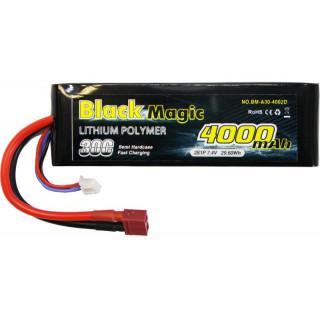 Black Magic LiPol Car 7.4V 4000mAh 30C Deans