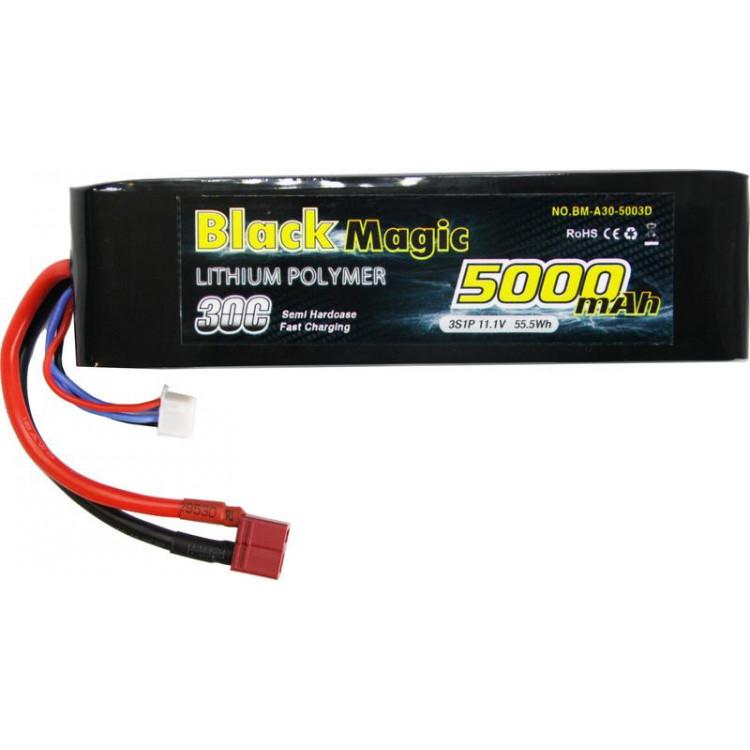 Black Magic LiPol Car 11.1V 5000mAh 30C Deans