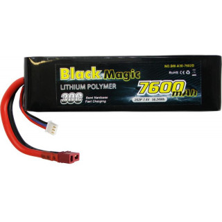 Black Magic LiPol Car 7.4V 7600mAh 30C Deans