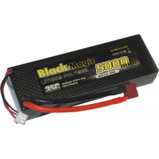 Black Magic LiPol Car 7.4V 5000mAh 35C Deans