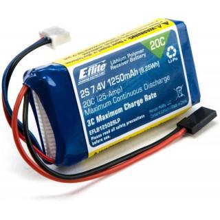 E-flite LiPol 7.4V 1250mAh Rx Pack