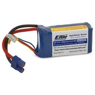 E-flite LiPol 11.1V 1300mAh 20C EC3