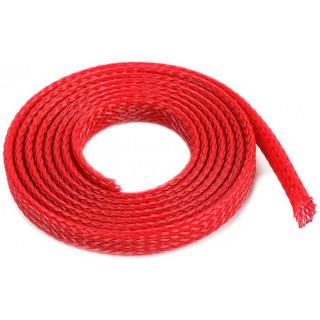 Ochranný kabelový oplet 6mm červený (1m)