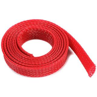 Ochranný kabelový oplet 10mm červený (1m)