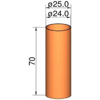 Klima összekötő 26mm cső átm. 24mm x 70mm