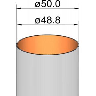 Klima papír cső 50mm / 500mm