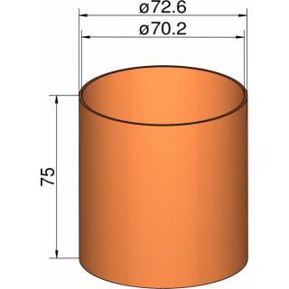 Klima csőcsatlakozás 75mm,  átm. 72.6mm x 75mm