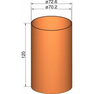 Klima csőcsatlakozás 75mm, átm. 72.6mm x 120mm
