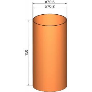 Klima csőcsatlakozás 75mm, átm. 72.6mm x 150mm