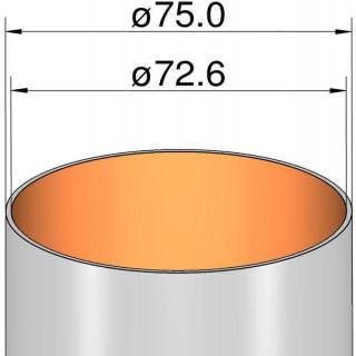 Klima papír cső 75mm / 385mm
