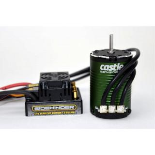 Castle motor 1410 3800ot/V senzored 3.17mm, reg. Sidewinder SCT
