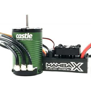 Castle motor 1410 3800ot/V senzored 3.17mm, reg. Mamba X