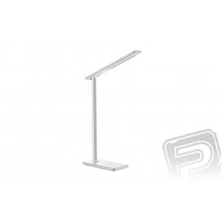 Bílá stolní lampa