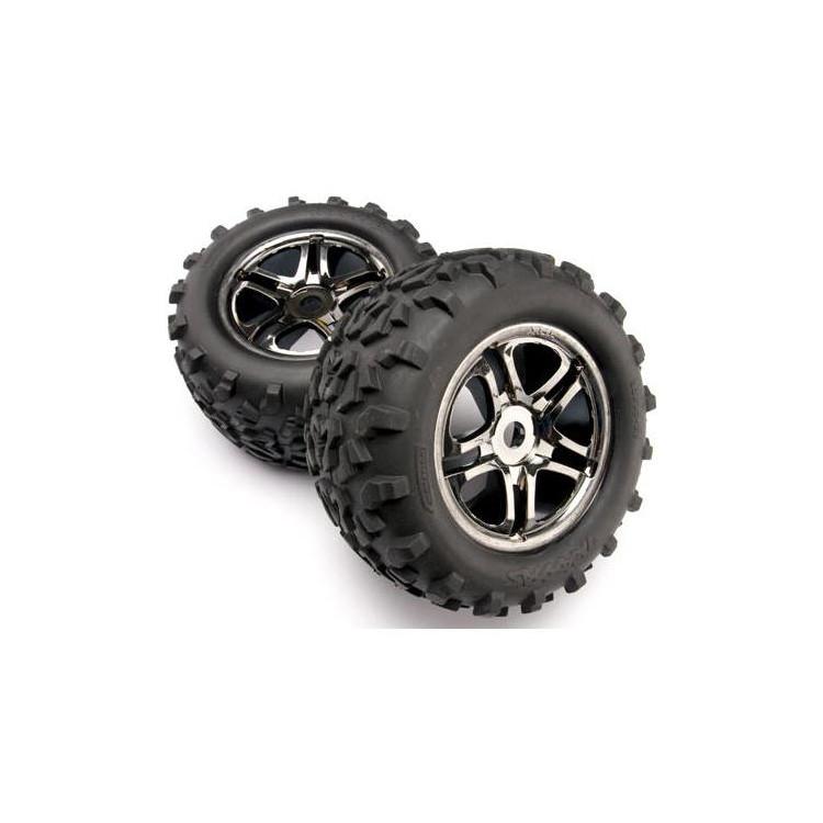"""Traxxas kolo 3.8"""", disk Split Spoke černý chrom, pneu Maxx (2)"""