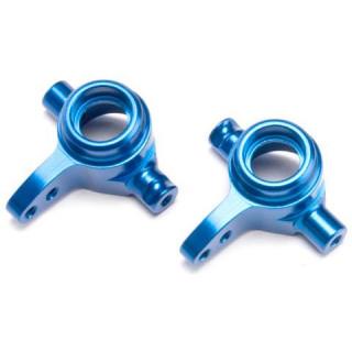 Traxxas přední hliníková těhlice modrá (pár)