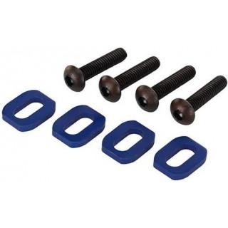 Traxxas podložky pod šrouby motoru hliníkové modré (4): X-Maxx