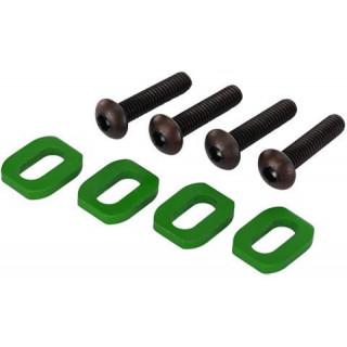 Traxxas podložky pod šrouby motoru hliníkové zelené (4): X-Maxx