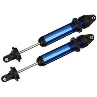 Traxxas tlumič GTX hliníkový modrý (2)