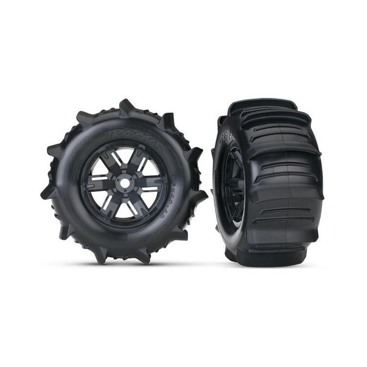 """Traxxas kolo 4.3/5.7"""", disk černý,pneu Paddle (pár)"""