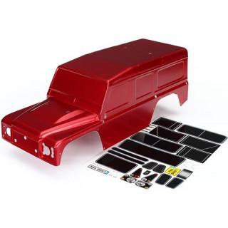 Traxxas karosérie Land Rover Defender červená: TRX-4