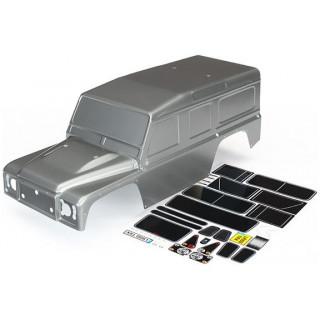 Traxxas karosérie Land Rover Defender stříbrná: TRX-4