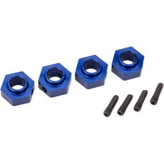 Traxxas náboj kola 12mm hliníkový modrý (4): TRX-4