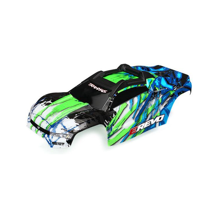 Traxxas karosérie E-Revo zelená sestavená