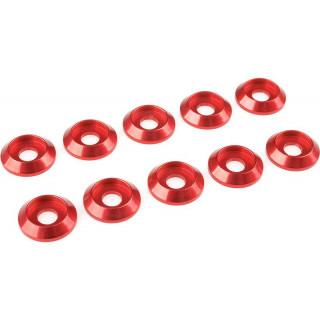 Corally podložka pod půl. šroub M4 12mm hliník červená (10)