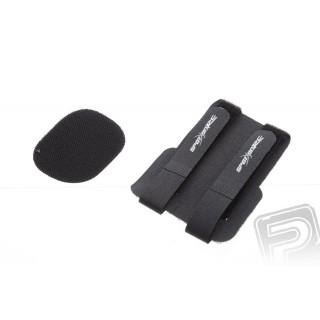 Dvojitý utahovací suchý zip pro baterie,rx a nádrže (černý)