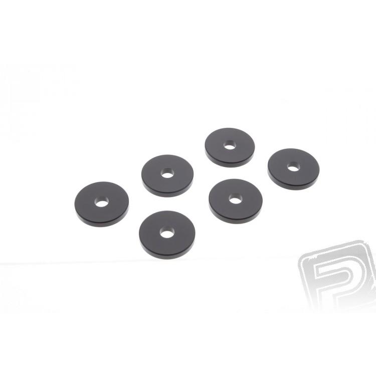 Podložky k motoru - průměr 24mm tloušťka 3mm (6ks)