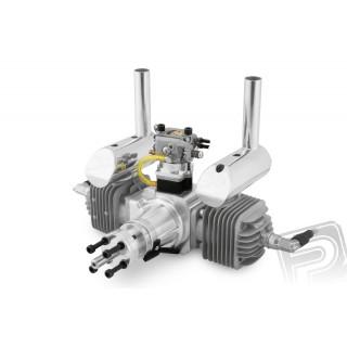 Motor DLA 64ccm (dvouválec) včetně tlumiče a příslušenství