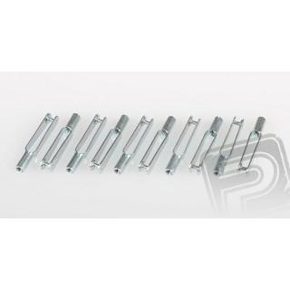 Összekötő villa (Snapper) - fém, M3, 10 db, PEL