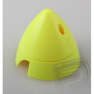 Fluor.kužel 63mm žlutý 2-listý