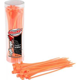 Corally stahovací pásek 2.5x100mm oranžový (50)