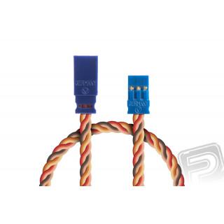 Prodlužovací kabel 100mm, JR 0,50qmm kroucený silikonkabel, 1 ks.